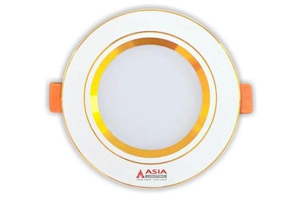 Đèn LED âm trần mặt vàng đổi màu 7w MV7 Asia