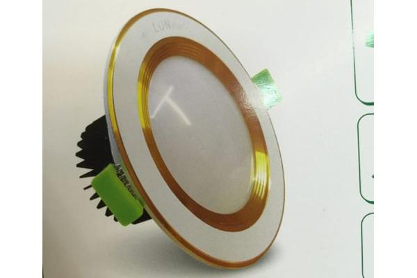 Đèn LED âm trần viền vàng LONstar LSK-201 7W