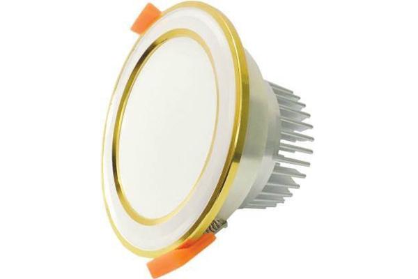 Đèn LED âm trần đổi màu mặt bạc viền vàng 7w MBV7 Asia