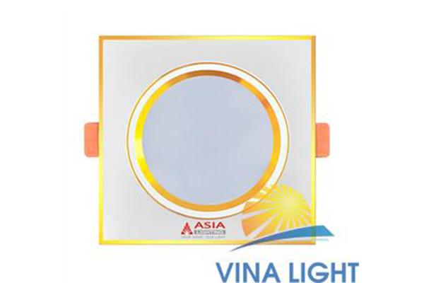 Đèn led âm trần vuông mặt vàng 7w MVV7-DS Asia