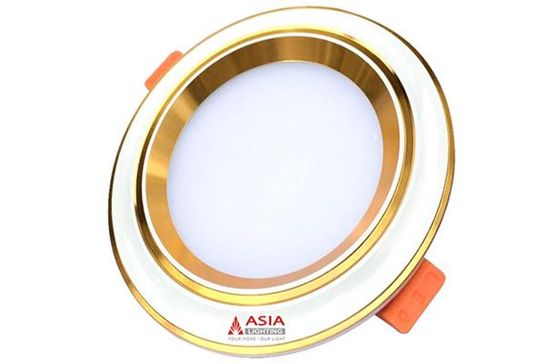 Đèn led âm trần mặt lõm viền vàng 7W MLVDS7 Asia