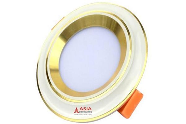 Đèn led âm trần mặt lõm viền vàng nhạt 7w MLGDS7 Asia