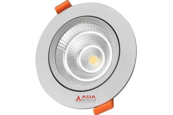 Đèn led âm trần mặt kính COB 7W MKC7 Asia