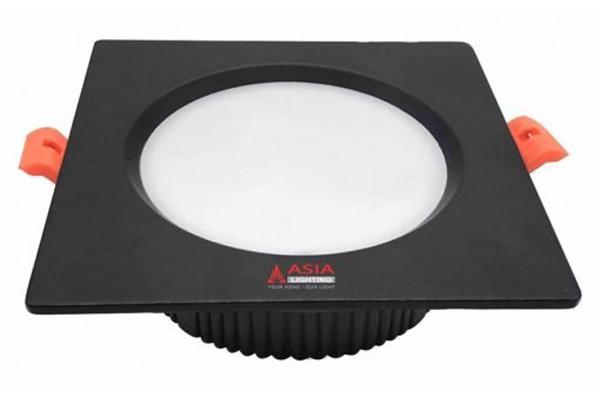 Đèn led âm trần mặt đen vuông 7w MVD-DS Asia