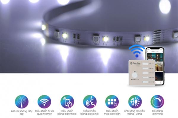 Đèn LED dây đổi màu Wifi 12V LD01.WF.RGBCW 1000/3W Rạng Đông