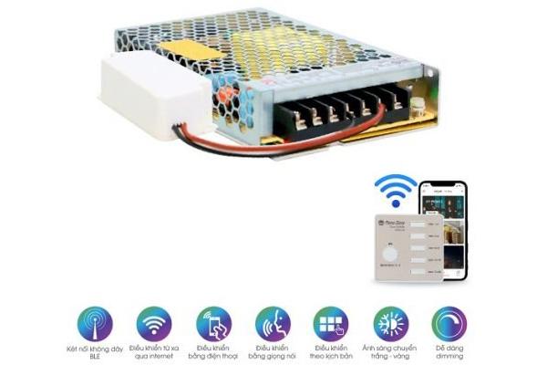 Bộ nguồn LED dây đổi màu DR-LD01.BLE 1000/7W Rạng Đông