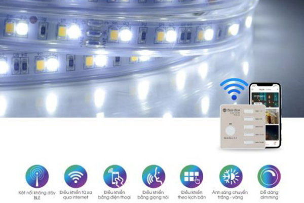 Đèn LED dây đổi màu LD01.RF.BLE 1000/7W (24VDC) Rạng Đông